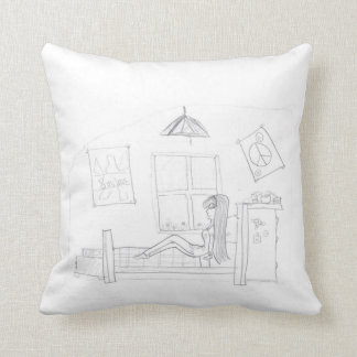 A Typical Girl Throw Pillow
