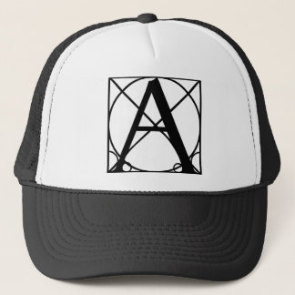 A - Typo-CAPS.png Trucker Hat