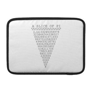 A Typographic Slice of Pi MacBook Air Sleeve