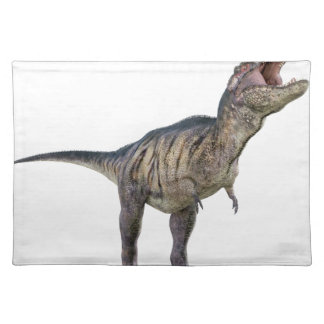 A Tyrannosaurus Rex Looking Up and Roaring Placemat