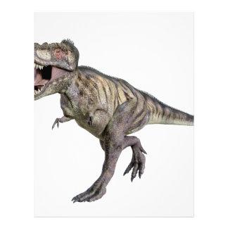 A Tyrannosaurus Rex Running to the Right Letterhead
