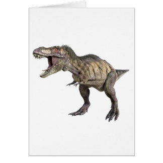 A Tyrannosaurus Rex Standing and Looking Right Card