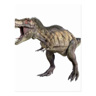 A Tyrannosaurus Rex Standing and Looking Right Postcard