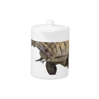 A Tyrannosaurus Rex Standing and Looking Right Teapot