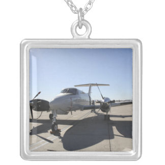 A  UC-12F King Air aircraft Square Pendant Necklace