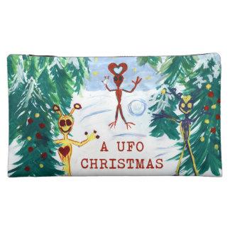 A UFO Christmas Makeup Bags