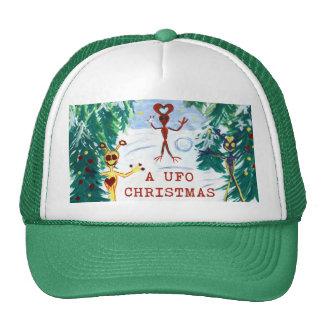 A UFO Christmas Trucker Hat