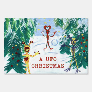 A UFO Christmas Sign