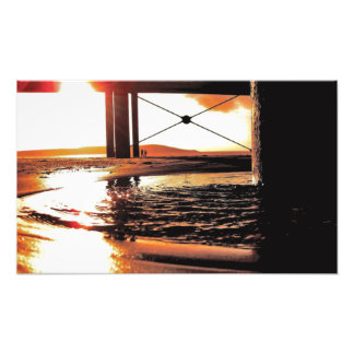 A UK Beach Sunset Photoprint Photo Art