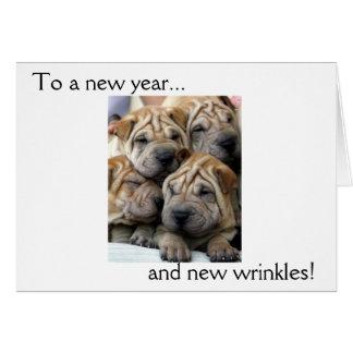 ¡A un Año Nuevo… y a las nuevas arrugas! Tarjeta d