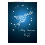 A un par, paloma de la tarjeta de Navidad de la