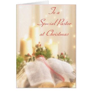 A un pastor especial en el navidad tarjeta de felicitación