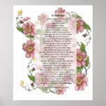 A un poema color de rosa salvaje impresiones