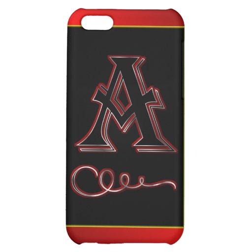 """A"" una letra del monograma un cristiano inicial d"
