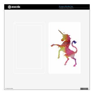A unicorn kindle fire decal