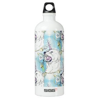 a unicorn polar bear water bottle