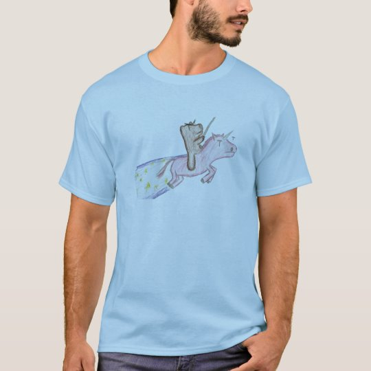 a unicorn with a bear on top