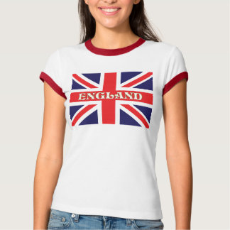 A Union Jack flag with England across it T-Shirt