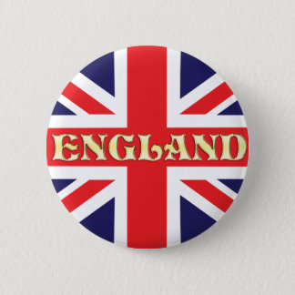 A Union Jack flag with England written on it Button