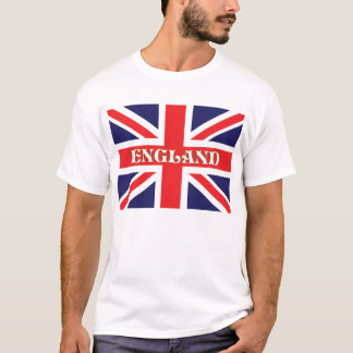 A Union Jack flag with England written on it T-Shirt