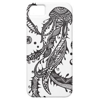 A unique jellyfish hand drawn art iPhone 5 covers