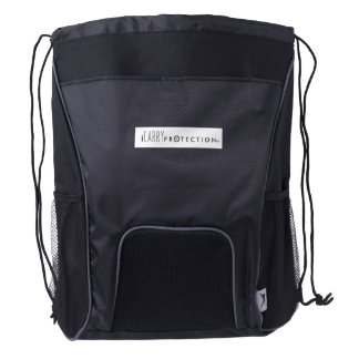 A unique Trademarked design. Drawstring Backpack