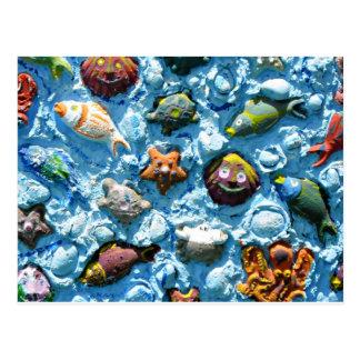 A Unique Underwater Seascape! Postcard