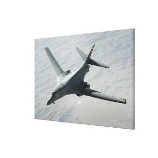 A US Air Force  B-1B Lancer on a combat patrol 2 Stretched Canvas Print