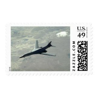 A US Air Force  B-1B Lancer on a combat patrol 2 Stamp