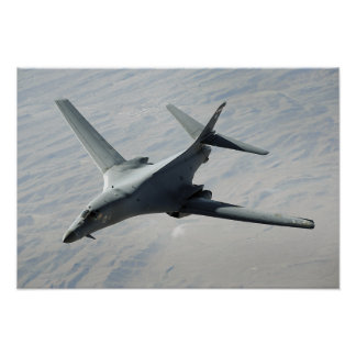 A US Air Force  B-1B Lancer on a combat patrol 2 Poster