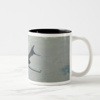 A US Air Force  B-1B Lancer on a combat patrol 2 Two-Tone Coffee Mug