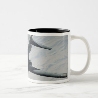 A US Air Force  B-1B Lancer on a combat patrol Two-Tone Coffee Mug