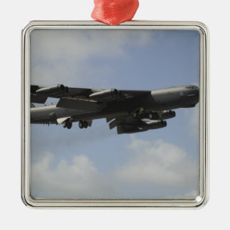 A US Air Force B-52 Stratofortress in flight Metal Ornament