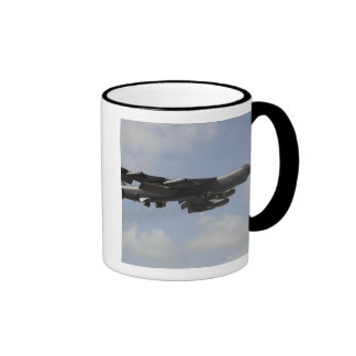 A US Air Force B-52 Stratofortress in flight Ringer Mug