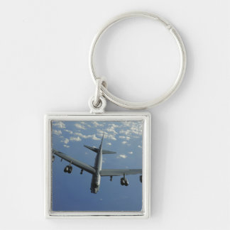 A US Air Force B-52 Stratofortress Silver-Colored Square Keychain