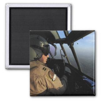 A US Air Force C-130J Hercules pilot 2 Inch Square Magnet