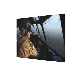 A US Air Force C-130J Hercules pilot Canvas Print