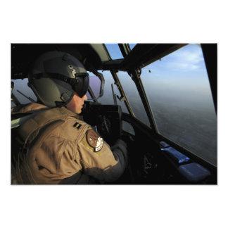 A US Air Force C-130J Hercules pilot Photo Print