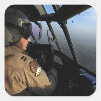 A US Air Force C-130J Hercules pilot Square Sticker