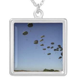 A US Air Force C-17 Globemaster III 2 Square Pendant Necklace