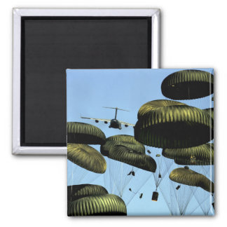 A US Air Force C-17 Globemaster III 2 Inch Square Magnet