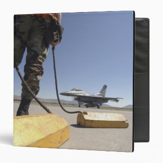 A US Air Force crew chief 3 Ring Binders
