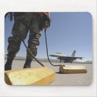 A US Air Force crew chief Mouse Pads