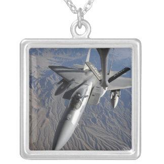 A US Air Force F-15 Eagle Square Pendant Necklace
