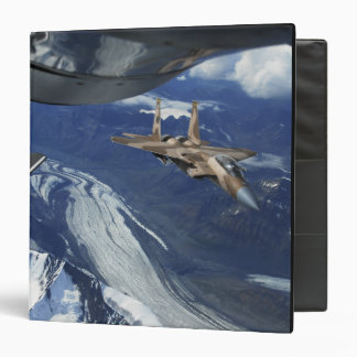 A US Air Force F-15C Eagle positioning itself 3 Ring Binder