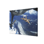 A US Air Force F-15C Eagle positioning itself Gallery Wrapped Canvas