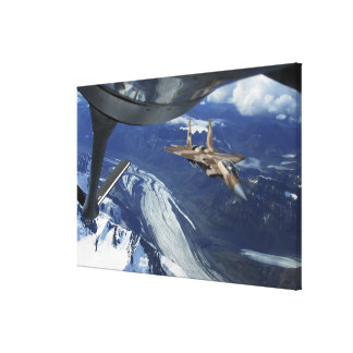 A US Air Force F-15C Eagle positioning itself Canvas Print