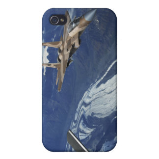 A US Air Force F-15C Eagle positioning itself iPhone 4 Covers
