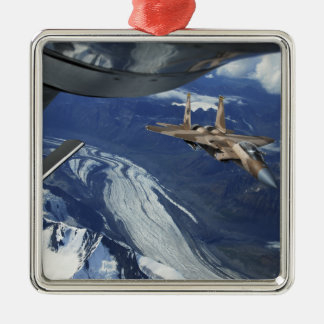 A US Air Force F-15C Eagle positioning itself Metal Ornament