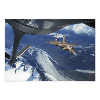 A US Air Force F-15C Eagle positioning itself Photo Print